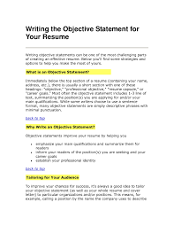 Example Of Resume Objective Resume by Free Resume Objective Statements Resume Template And