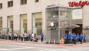 new york city subway entrance turned into apple store with