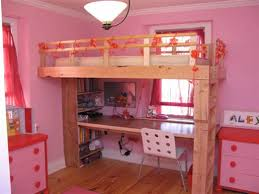 Make Loft Bed With Desk by How To Build A Kid U0027s Loft Bed 10 Steps With Pictures