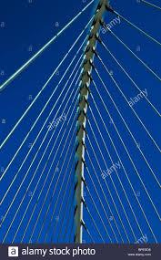 bowstring arch bridge modern futuristic design steel construction