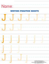 letter j practice worksheet u2013 large text size u2013 e is for enrichment