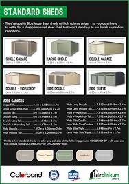 standard sheds fair dinkum sheds