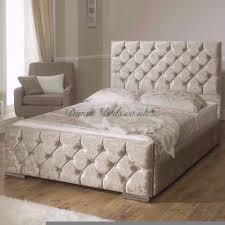 Double King Size Bed Single Double King Size Bed Frame Black Gold Silver Crushed