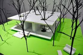 backyard modern lake house lighting ideas at night with green