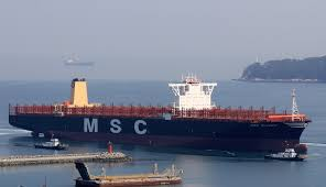 msc takes delivery 19 224 teu mega ship olympic