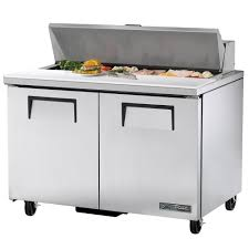 48 inch sandwich prep table used true tssu 48 12 hc 48 sandwich salad prep table w refrigerated