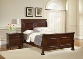discount furniture outlet reflections dark cherry queen sleigh bed
