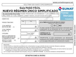 cronograma de sunat 2016 rus descarga la nueva guía de pago del rus sunat 2017