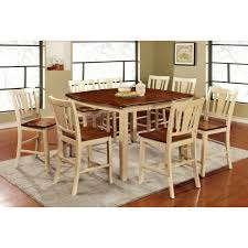 furniture of america besette cottage 9 piece dining table set