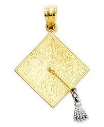 graduation cap charm 14k gold and 14k white gold charm graduation cap charm jewelry