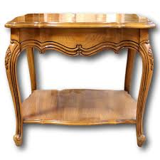 Oak End Tables Thomasville Patterned Oak End Table Upscale Consignment