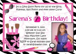 girls spa birthday party invitations home party ideas