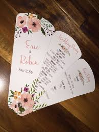 fan wedding program kits wedding program fans petal fan programs fan programs diy petal