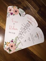 diy wedding program fans kits wedding program fans petal fan programs fan programs diy petal
