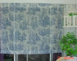 Blue Toile Curtains Blue Toile Curtain Sheer Waverly Prairie Farmhouse