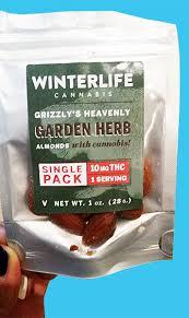 thc edible marijuana edible review winterlife cannabis almonds