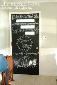 chalkboard in kitchen ideas the remodeled painting a kitchen chalkboard door