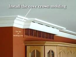 installing crown molding on cabinets how to cut crown molding for kitchen cabinets video woodworking