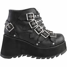 motorcycle ankle boots women u0027s demonia scene 30 platform studded ankle boot black