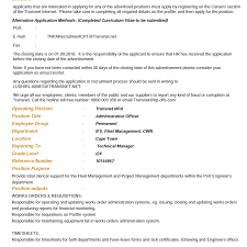 How To Write A Resume With No Work Experience Example by Transnet Vacancy Posts Home Facebook