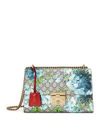 bloom purses official website gucci padlock gg blooms shoulder bag blue