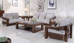 Sofa Set Living Room American Style Black Walnut Furniture Sofa Set Noble Solid Wood
