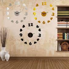 wanduhren modern 3d modern design wanduhr spiegel wandtattoo wohnzimmer wanddeko