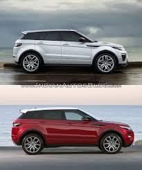 land rover range rover evoque 4 door 2016 range rover evoque vs 2015 range rover evoque side profile
