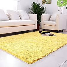 Washable Kitchen Area Rugs Ustide Yellow Chenille Rugs Shaggy Washable Kitchen