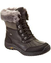 womens ugg duck boots ugg ugg adirondack boot in brown save 24 lyst