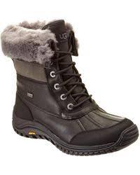 ugg womens adirondack ii boot print ugg adirondack ii snake print hiker boot in black lyst