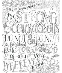 coloring page joshua 1 9 be strong and courageous instant