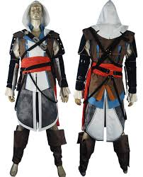 Assassin Halloween Costumes Assassin U0027s Creed Black Flag Edward Kenway Cosplay Costume Jacket