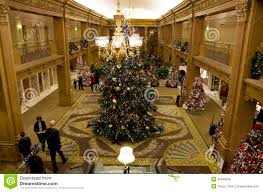 beautiful christmas trees in a luxury hotel editorial stock image editorial stock photo download beautiful christmas trees