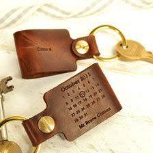 third anniversary gift ideas personalised third wedding anniversary leather keyring wedding