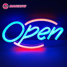 outdoor waterproof hanging letter led neon sign bar open led mini