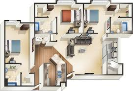 Floor Plans For Apartments 3 Bedroom by Apartments Starkville Ms The Pointe At Msu