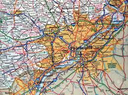 A Map Of Pennsylvania by A Road Map Of The Philadelphia Pa Metropolitan Area Stock Photo