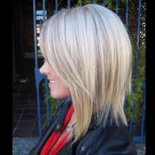 bob hair lowlights slightly a lined long bob and added depth and dimension with