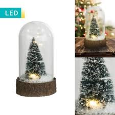 decorative snow globe light with tree