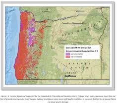 Oregon Tsunami Map by January 26 1700 A 9 0 Cascadia Subduction Zone Earthquake
