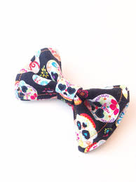 day of the dead bow tie sugar skull bow tie bow