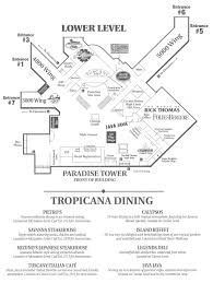 Hotel Map Of Las Vegas by Tropicana Las Vegas Map