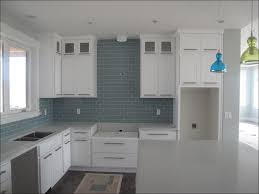 kitchen kitchen sky blue glass subway tile backsplash dark blue