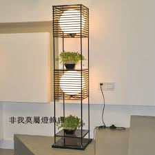 Standing Lamp With Shelves by Lighting Design