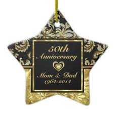50th wedding anniversary tree decorations ornaments