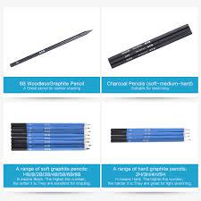 26pcs professional drawing sketch pencil kit set sketch charcoal