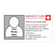 information cards template 28 images emergency information