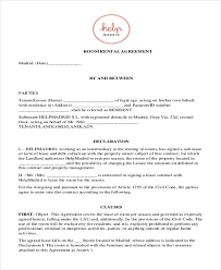 sample room rental agreement form 10 free documents in doc pdf
