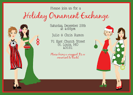 ordinary ornament exchange invitation wording part 4